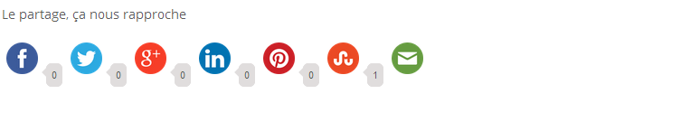 Tutoriels sur les boutons de partages